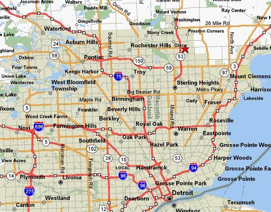 Location - Michigan location in usa
